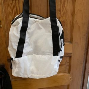 Lululemon White Packable Tote